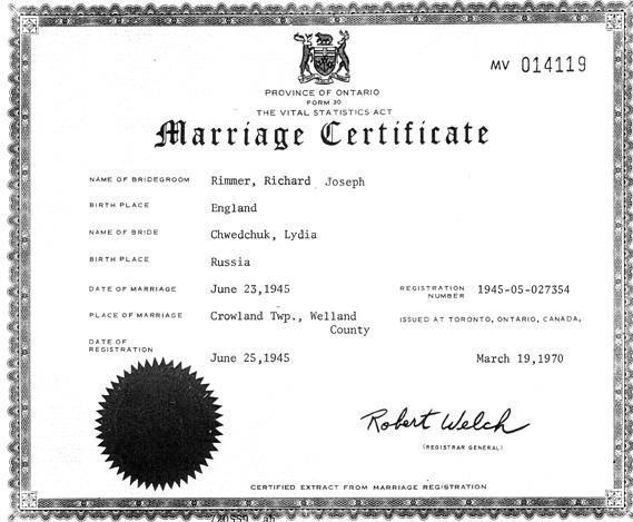 Marriage certificate toronto, public record victoria, joshua cooper